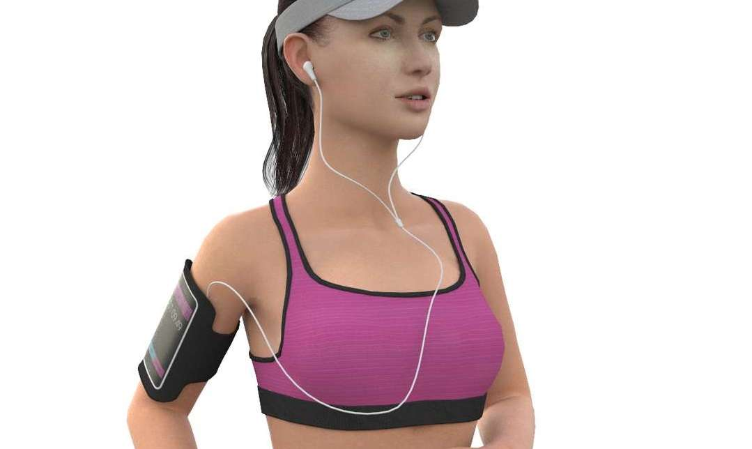 Jogging Girl - Model 3D For Free