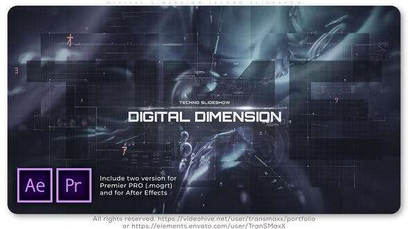 Digital Dimension Techno Slideshow - Videohive 26363467 - After Effect Template