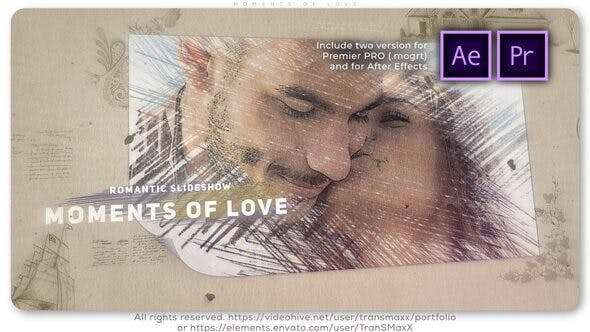 Moments of Love - Videohive 26363511 - After Effect Template, Premere Pro Template