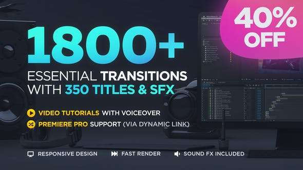 Transitions V2 ( Last Update 22 February 20 ) - Videohive  20139771 - After Effect Template
