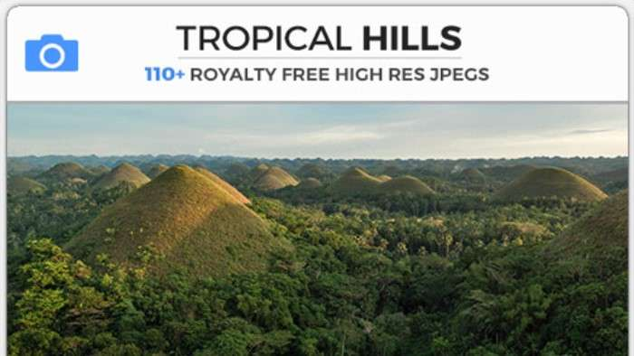TROPICAL HILLS - Photobash - Image Footage