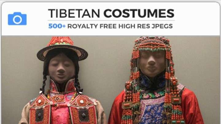 TIBETAN COSTUMES - Photobash - Image Footage