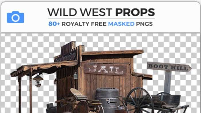 WILD WEST PROPS - Photobash - Image Footage