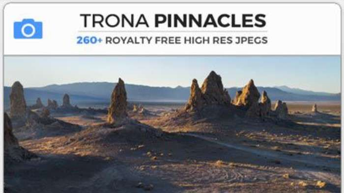 TRONA PINNACLES - Photobash - Image Footage