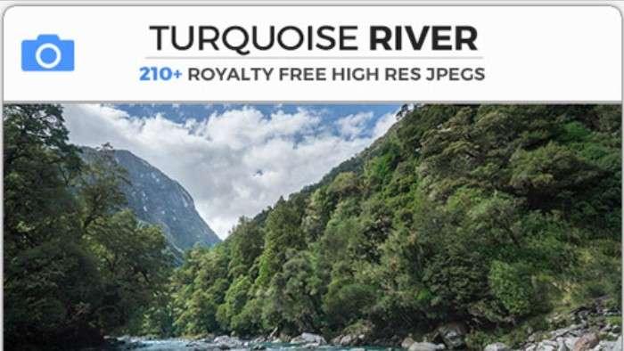 TURQUOISE RIVER - Photobash - Image Footage