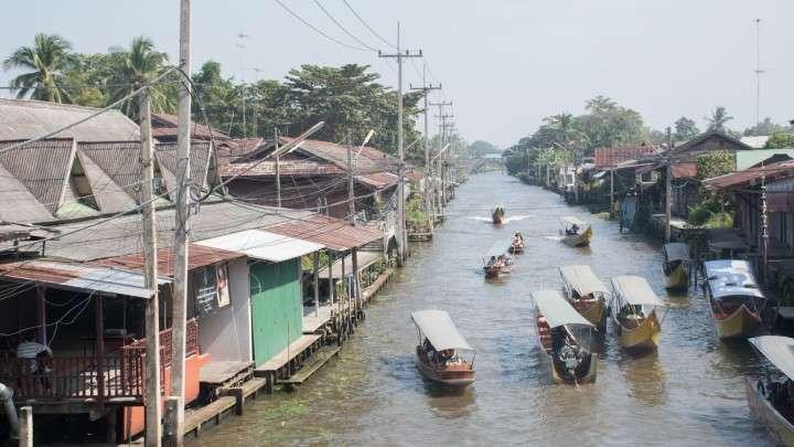 Thailand Town Market - Photobash - Image Footage