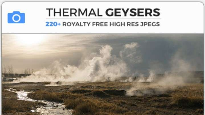 THERMAL GEYSERS - Photobash - Image Footage