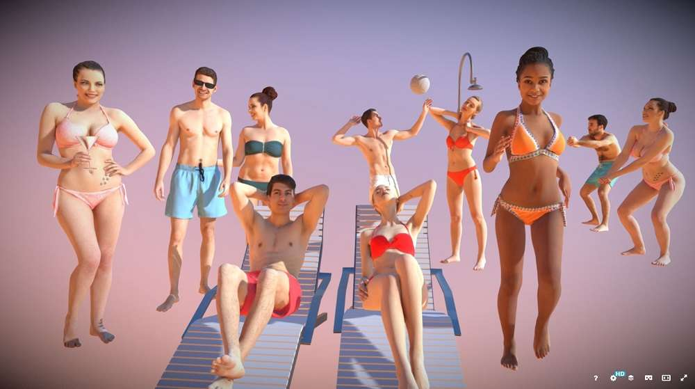 10x Gobotree Beach People Vol01 - Model 3D For Free
