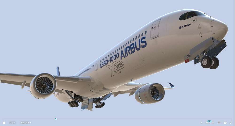 Airbus A350-1000 XWB Home livery - Model 3D For Free