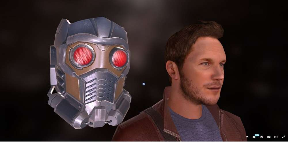 Star lord (Standing pose) - Model 3D For Free