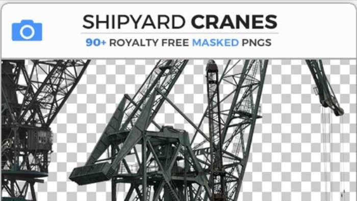 SHIPYARD CRANES - Photobash - Image Footage