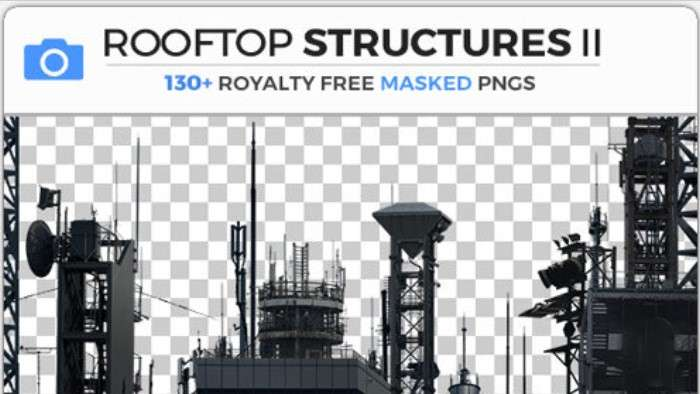ROOFTOP STRUCTURES II - Photobash - Image Footage