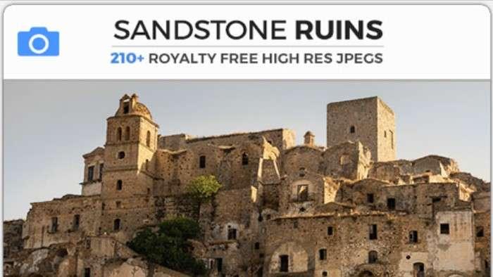 SANDSTONE RUINS - Photobash - Image Footage