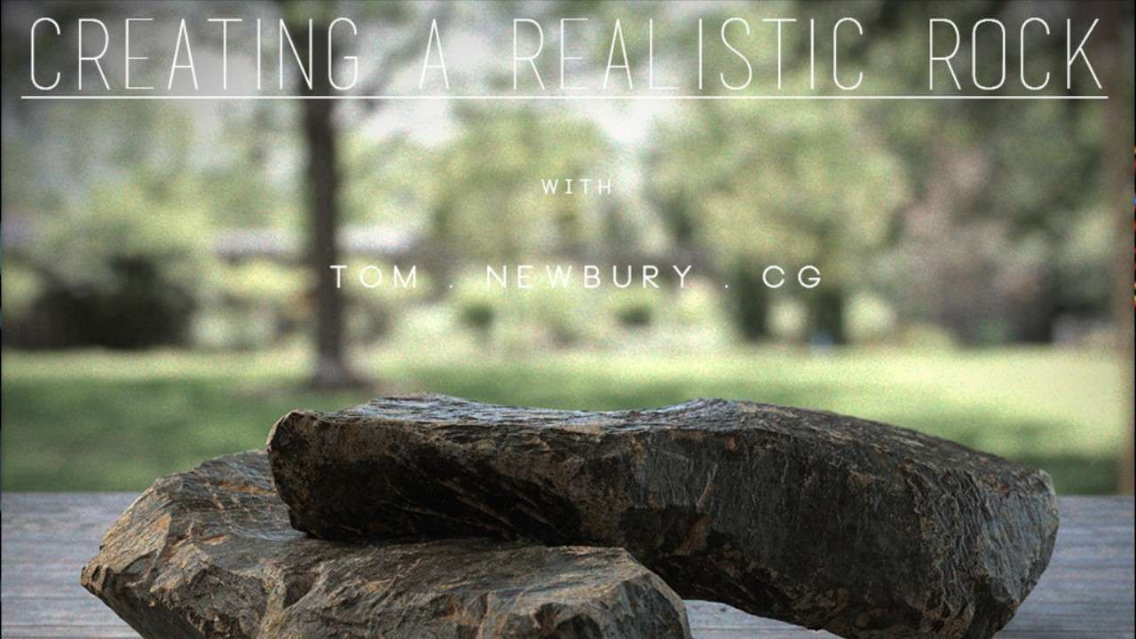 Creating a Realistic Rock in CG - Gumroad - Maya Tutorial