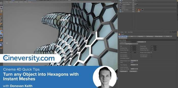 Turn any Object into Hexagons with Instant Meshes - Cinema 4D Tutorial