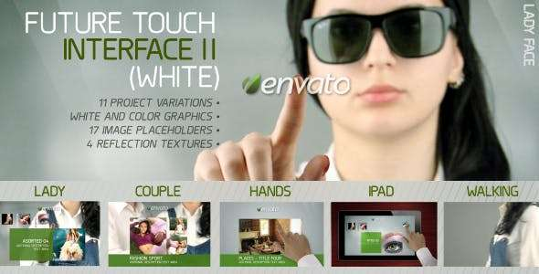 Videohive 1832015 - Future Touch Interface II (White) - After Effect Template
