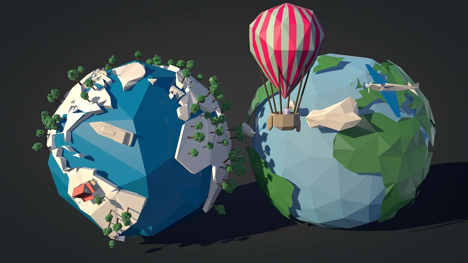 Low Poly Earth Pack - Model 3D