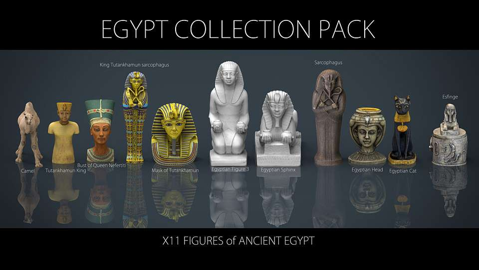 3D EGYPT COLLECTION PACK - Model 3D