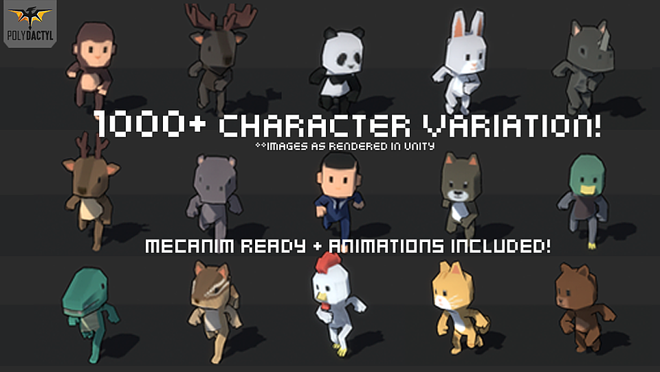 1000+ Character Pack - Model 3D