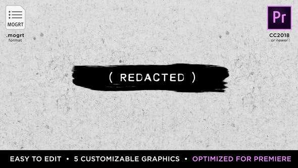 Videohive 21879662 - Redacted Titles - Premiere Pro Template