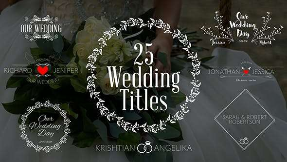 Videohive  19761639 - Wedding Titles  - After Effect Template