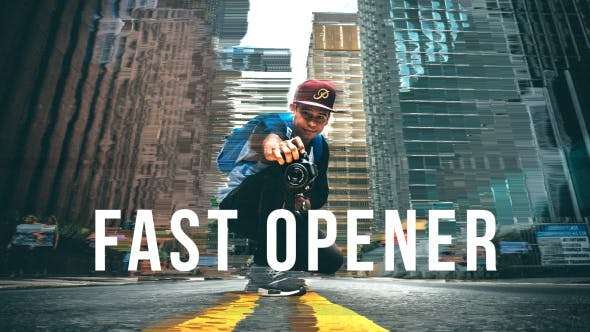 Videohive 19881498 - Fast Opener - After Effect Template